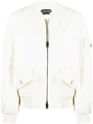 Tom Ford Patch Pocket Cropped Bomber Jacket