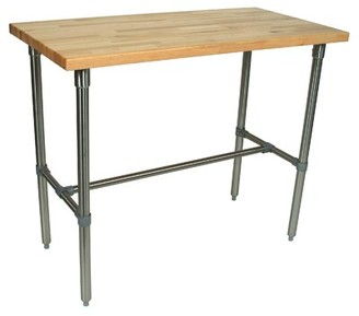 "John Boos Cucina Americana Dining Table Finish: Maple, Size: 40"" H x 48"" W x 30"" D"