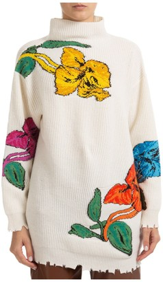 MSGM Floral Intarsia Sweater