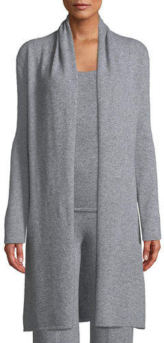 Neiman Marcus Cashmere Open-Front Duster Cardigan