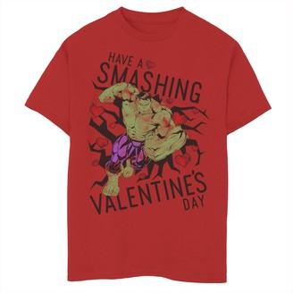 Marvel Boys 8-20 Hulk Have A Smashing Valentine's Day Tee