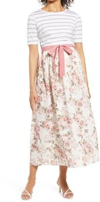 Savi Mom Florence Tie Waist Maternity Maxi Dress