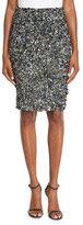 Haute Hippie Mosaic Sequin-Embellished High-Waist Skirt, Multi