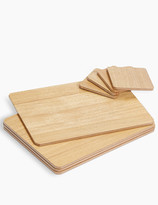 Marks and Spencer Set of 4 Wood Veneer Placemats & Coasters