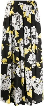 Gestuz Floral Print Pleated Skirt