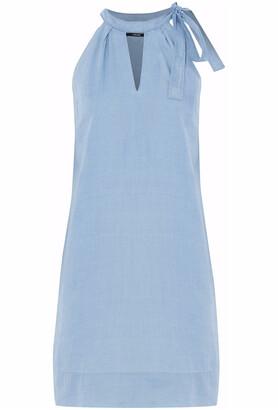 J Brand Esme Cutout Cotton-chambray Mini Dress