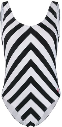 Perfect Moment Chevron One-Piece Swimsuit