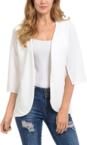 Magic Fit White Split-Sleeve Blazer