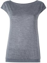 Eleventy boat neck fine knitted top
