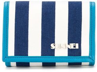 Sunnei Striped Neck-Strap Wallet