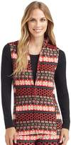 Cuddl Duds Plus Size Full Zip Fleece Vest