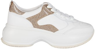 Hogan White Leather Maxi I Active Sneakers