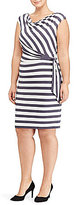Lauren Ralph Lauren Plus Striped Jersey Dress