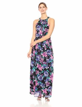 Nine West Women's Pleated Bodice Maxi Dress