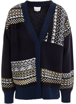 3.1 Phillip Lim Patchwork-effect Fair Isle Wool-blend Sweater