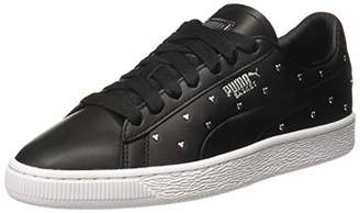 Puma Women's Basket Studs WN's Low-Top Sneakers, Black Silver