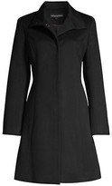 Thumbnail for your product : Sofia Cashmere Funnel-Neck Wool-Blend Coat