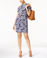 MICHAEL Michael Kors Samara Paisley-Print Cold-Shoulder Dress