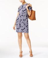 MICHAEL Michael Kors Samara Printed Cold-Shoulder Dress