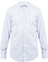 Massimo Alba Long-sleeved pinstriped cotton-poplin shirt