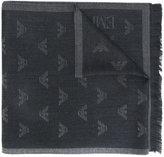 Emporio Armani logo jacquard scarf
