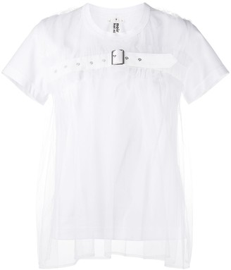 Comme des Garcons sheer-layered T-shirt
