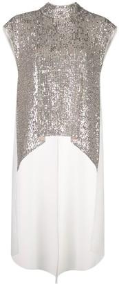 Sachin + Babi sequin high-low blouse