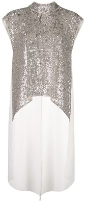 Sachin + Babi Sequin High-Low Blouse