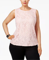 Kasper Plus Size Lace Shell