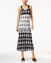 Style&Co. Style & Co Printed Crochet-Lace Maxi Dress, Created for Macy's