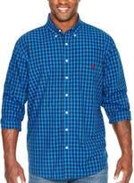 U.S. Polo Assn. Long Sleeve Checked Button-Front Shirt-Big and Tall