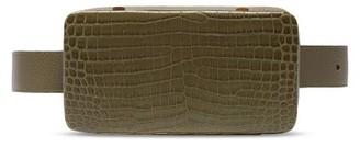 Lutz Morris Evan Crocodile-effect Leather Belt Bag - Khaki