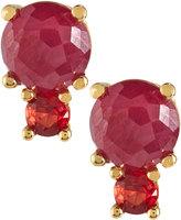 Ippolita 18k Lollipop 2-Stone Post Earrings, Red/Orange