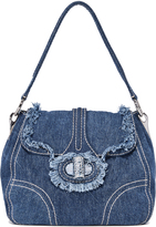 What Goes Around Comes Around Prada Denim Shoulder Bag (Previously Owned)