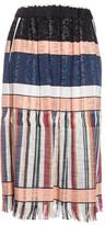 Forte Forte Striped Gathered Skirt