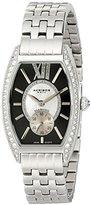 Akribos XXIV Women's AKR470BK Diamond Swiss Quartz Tourneau Bracelet Strap Watch