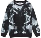 Someday Soon Black Moon Surface Print Sweatshirt