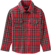 Joe Fresh Toddler Boys' Print Flannel Shirt, Bright Red (Size 2)