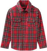 Joe Fresh Toddler Boys' Print Flannel Shirt, Bright Red (Size 4)