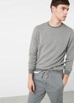 MANGO MAN Cotton Cashmere-Blend Sweater