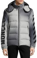 Moncler Enclos Ombré Hooded Puffer Jacket, Gray
