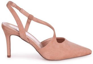 Linzi BERKELEY - Nude Suede Wrap Around Sling Back Court Heel