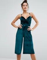 Missguided Velvet Culotte Jumpsuit