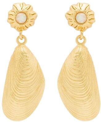 Anni Lu 18kt gold plated brass Petit Moules earrings