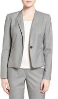 Halogen R) Step Lapel Suit Jacket (Petite)