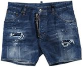 DSQUARED2 Washed Blue Denim Love Wash Shorts