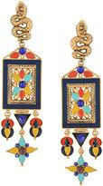Roberto Cavalli serpent tone embellished earrings