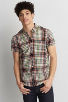 American Eagle Outfitters AE Short Sleeve Madras Plaid Shirt