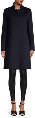 Cinzia Rocca Icons Stand-Collar Wool-Blend Coat
