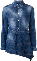 DSQUARED2 layered denim shirt - women - Cotton/Spandex/Elastane - 38
